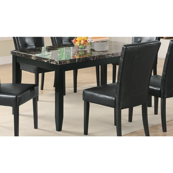 Shop Coaster Company Black Faux Marble Dining Table - 60 ...