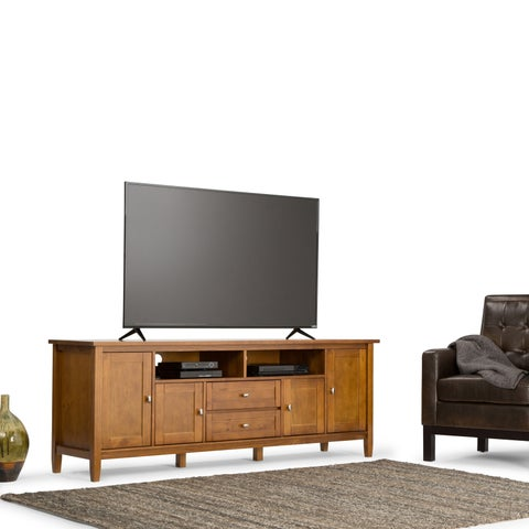 WYNDENHALL Norfolk 72-inch Honey Brown TV Stand for up to 80-inch TV's