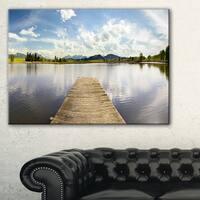 Pier into Sea Bavaria Panorama - Large Seascape Art Canvas Print