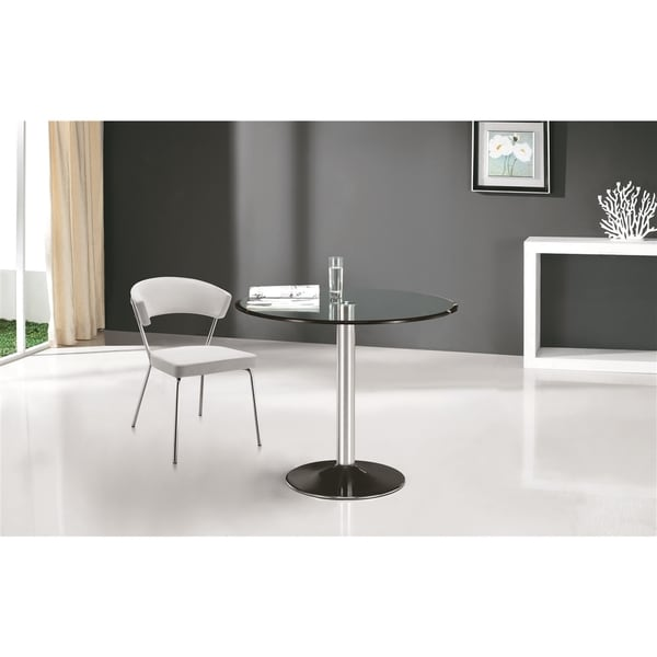 Oliver James Varma Chrome And Gl Dining Table