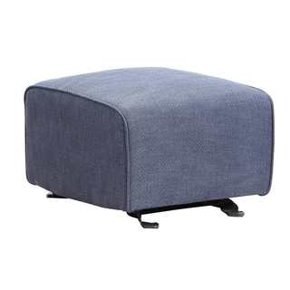 Shermag Brooklyn Black Metal Upholstered Glider Ottoman