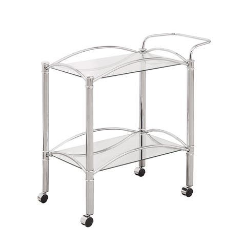 """Silver Orchid Olivia Chrome Serving Cart - 29.75"""" x 14"""" x 29.50"""""""