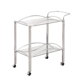 Coaster Company Home Furnishings Serving Cart (Chrome)