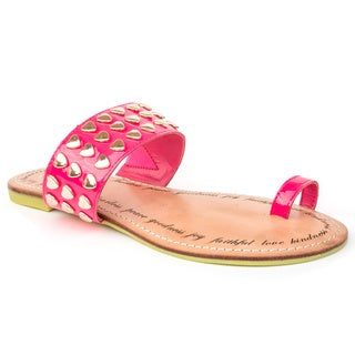 Sole9 G Leather Flat Sandals