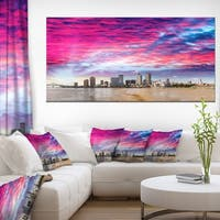 New Orleans Building and Skyscrapers Modern Cityscape Canvas Wall Art