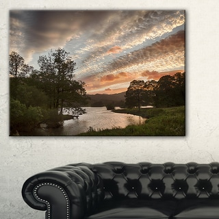 Sunset over Rydal Waters - Landscape Artwork Canvas