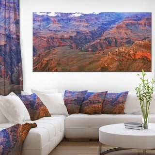 Blue and Red Grand Canyon View - Landscape Artwork Canvas