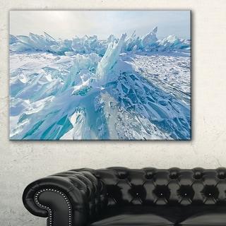 Blue Ice Hummocks in Siberia Lake Baikal - Landscape Artwork Canvas