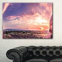 Evening Red Sky over Phoenix Arizona - Landscape Artwork Canvas