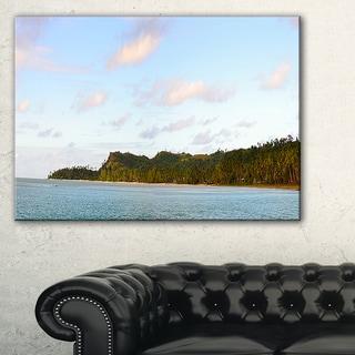 Aitutaki Lagoon Large Panorama - Modern Seascape Canvas Artwork
