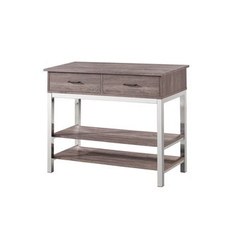Coaster Company Home Furnishings Server Table (Weathered Grey Chrome)