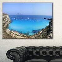 Cala Rossa Beach Sicily Italy - Modern Seascape Canvas Artwork