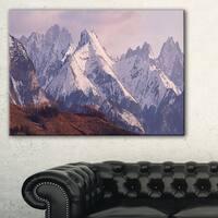 Snowy Tatra Mountains in Spring - Landscape Art Canvas Print - Blue