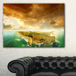 Great Ocean Road Australia Green - Modern Seascape Canvas Artwork