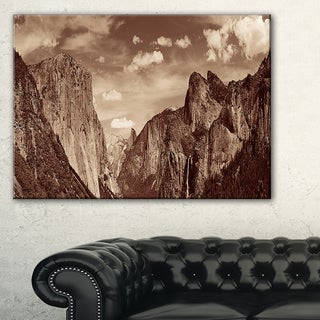 Rocks and Forest in Black and White - Landscape Art Canvas Print
