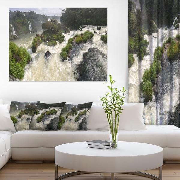 Waterfall Iguacu Falls in Brazil - Landscape Art Canvas Print