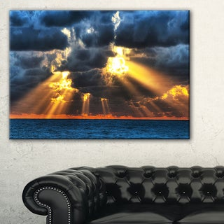 Fight Between Dark and Light - Landscape Artwork Canvas