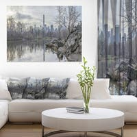Black and White Central Park NYC - Landscape Print Wall Artwork