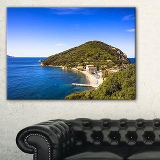 Blue Seashore at Elba Island - Extra Large Seashore Canvas Art