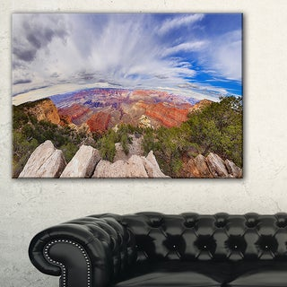 Eye Looking at the Grand Canyon - Landscape Art Canvas Print