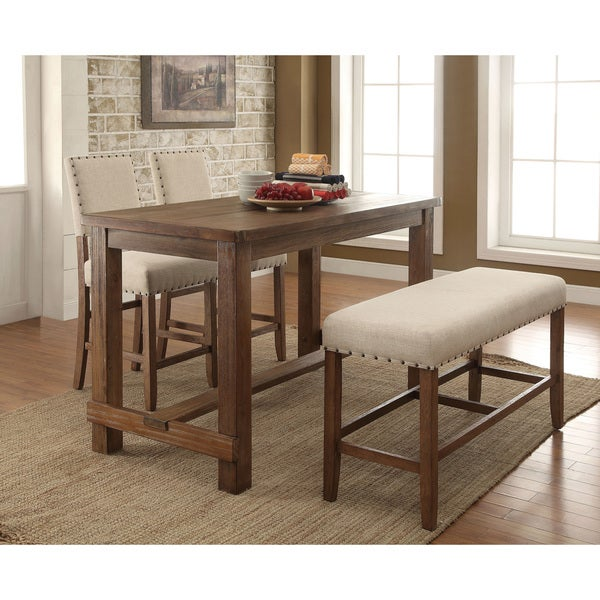 Furniture Of America Telara Contemporary Natural Counter Height Table    Free Shipping Today   Overstock.com   19064725