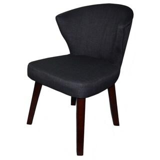Concave Dark Grey Accent Chair