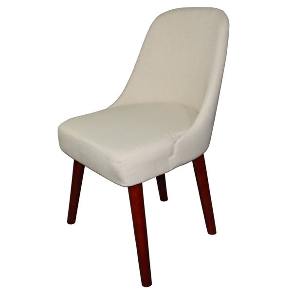 Off White Armless Accent Chair Free Shipping Today Overstockcom