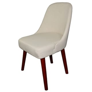 Off-White Armless Accent Chair