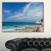 Rocky Coast Panoramic View - Extra Large Seashore Canvas Art