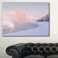 Frosty Winter Sunshine Panorama - Landscape Print Wall Artwork - White