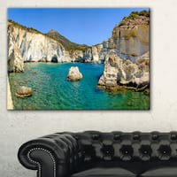 Turquoise Water Beach Panorama - Extra Large Seashore Canvas Art