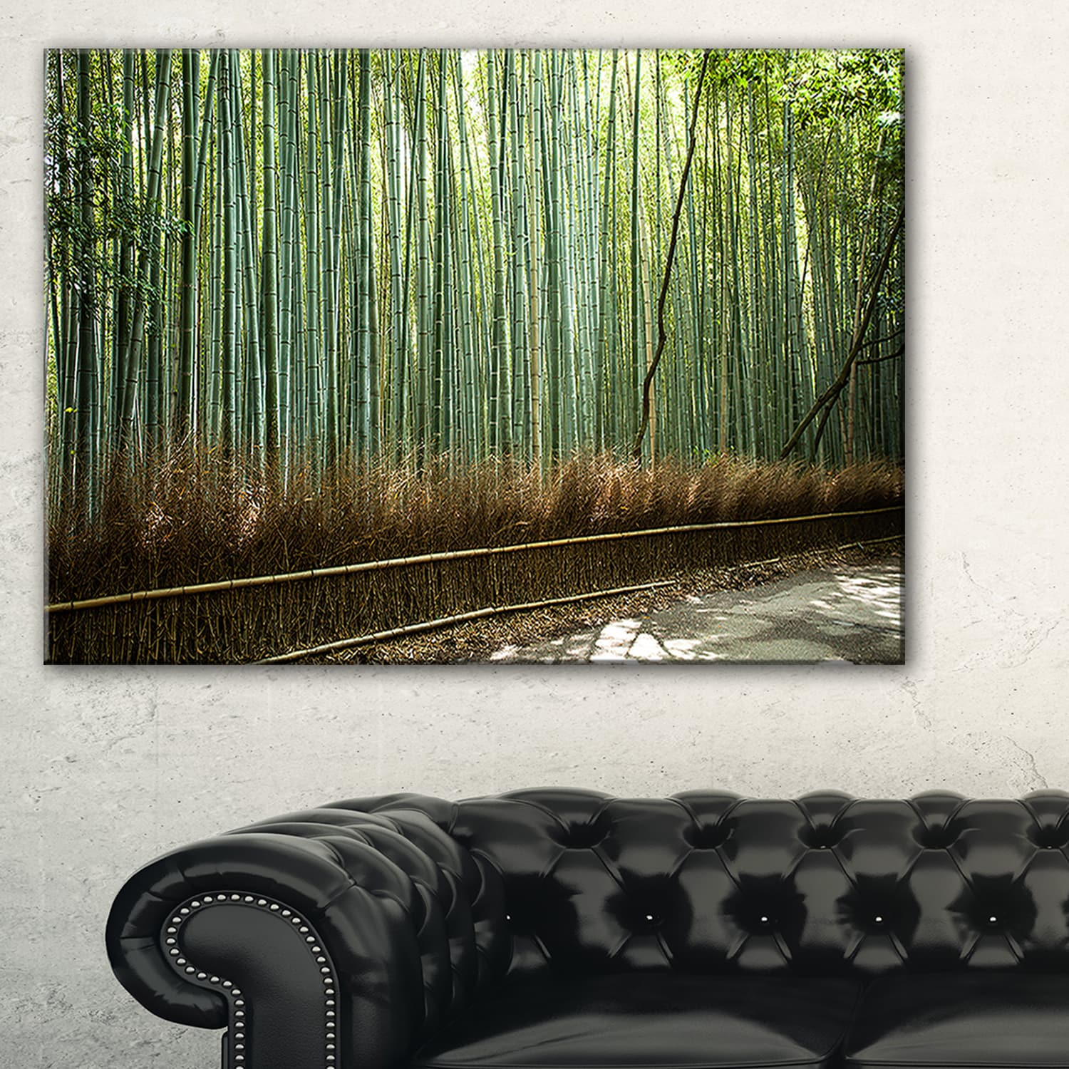 Beautiful-View-of-Bamboo-Forest-Forest-Canvas-Wall-Art-Mini thumbnail 6