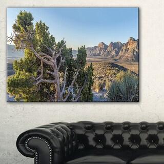 Large Rock Canyon Panorama - Landscape Wall Art Canvas Print