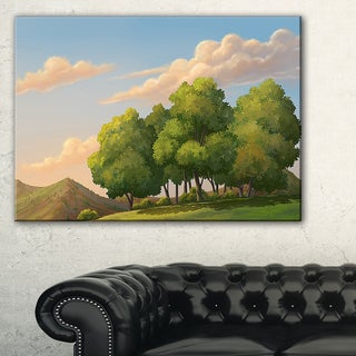 Green Mounds with Green Trees - Oversized Landscape Wall Art Print