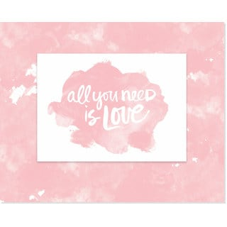 Secretly Designed 'All You Need Is Love' Watercolor Art Print