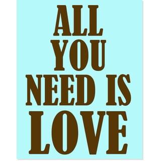 Secretly Designed 'All You Need Is Love' Art Print