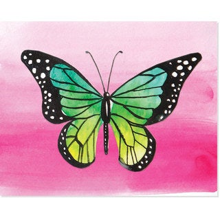 Secretly Designed Colorful Butterfly Art Print (8 x10)