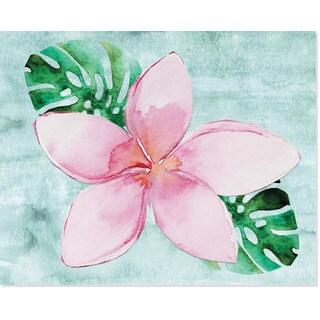 Single Summer Light Pink Flower Paper Art Print