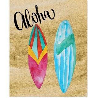 Secretly Designed 'Aloha Surf Board' Art Print