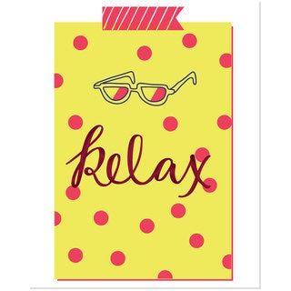 Bright Relax Multicolored Polka Dot Art Print