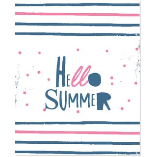 'Hello Summer' Unframed Art Print