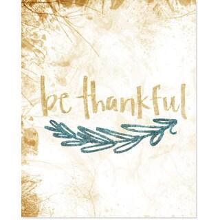Glitter 'Be Thankful' Art Print