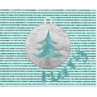 Turquoise 'Merry' Art Print