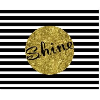 Black/White/Gold 'Shine' Art Print