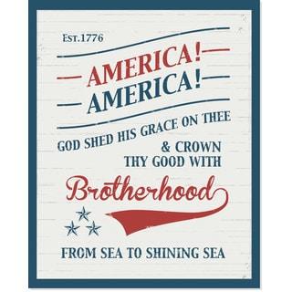 Secretly Designed 'American Brotherhood' 8-inch x 19-inch Art Print