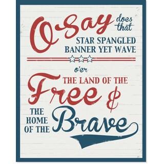 Secretly Designed 'Free & Brave' Art Print