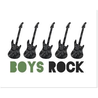'Boys Rock' Art Print