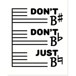 Secretly Designed 'Don't Be Sharp' 8-inch x 10-inch Art Print