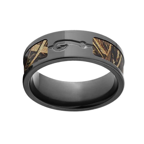 Shop Bz Black Zirconium Realtree Max 5 Camo Men S Ring Overstock