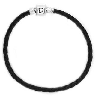 De Buman Sterling Silver Leather Bracelet